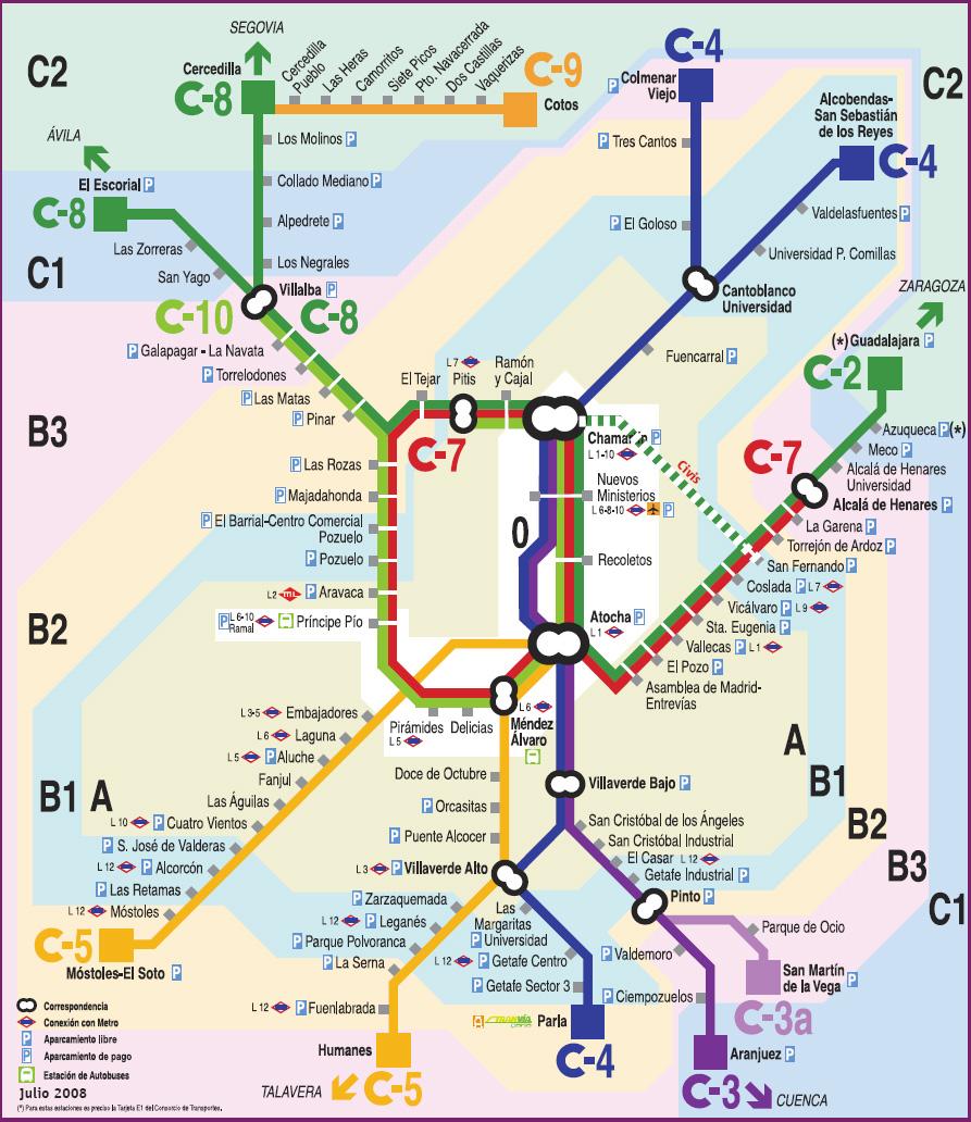 Mapa Cercanias Madrid 2017.Metro De Madrid Mas De 100 Imagenes Del Mapa De Metro